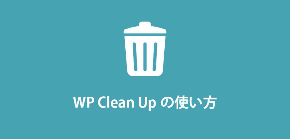WP Clean Up の使い方