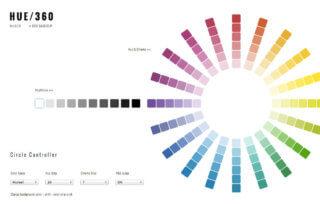 配色ツール、HUE 360について