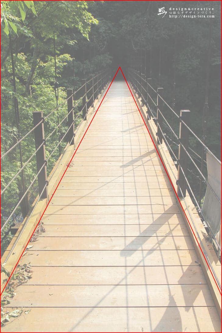 三角構図のグリッド