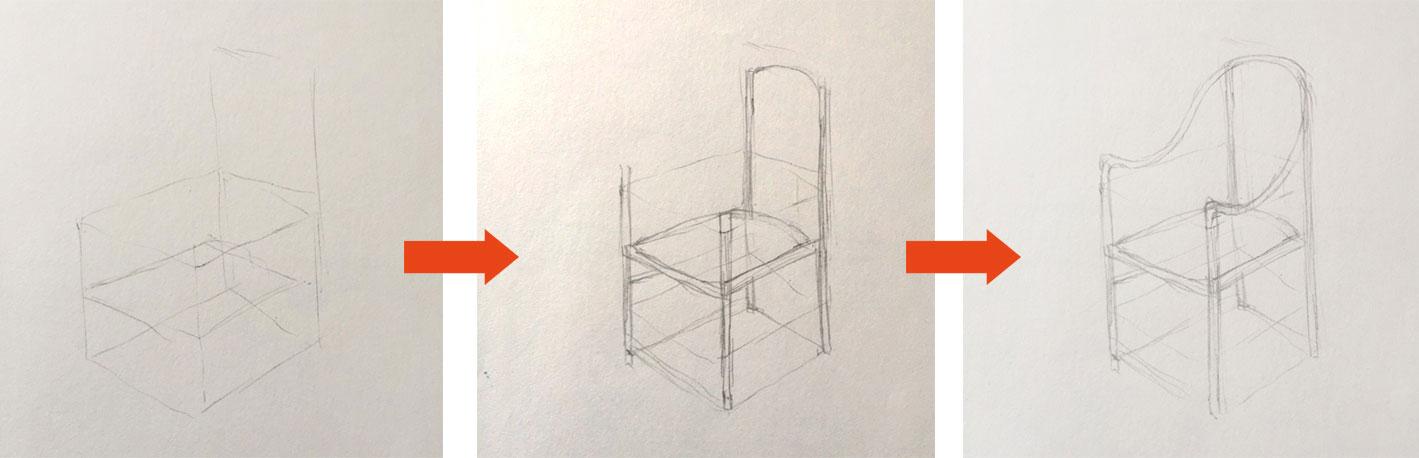 椅子の書き方
