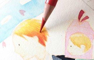 色鉛筆で濃淡を表現