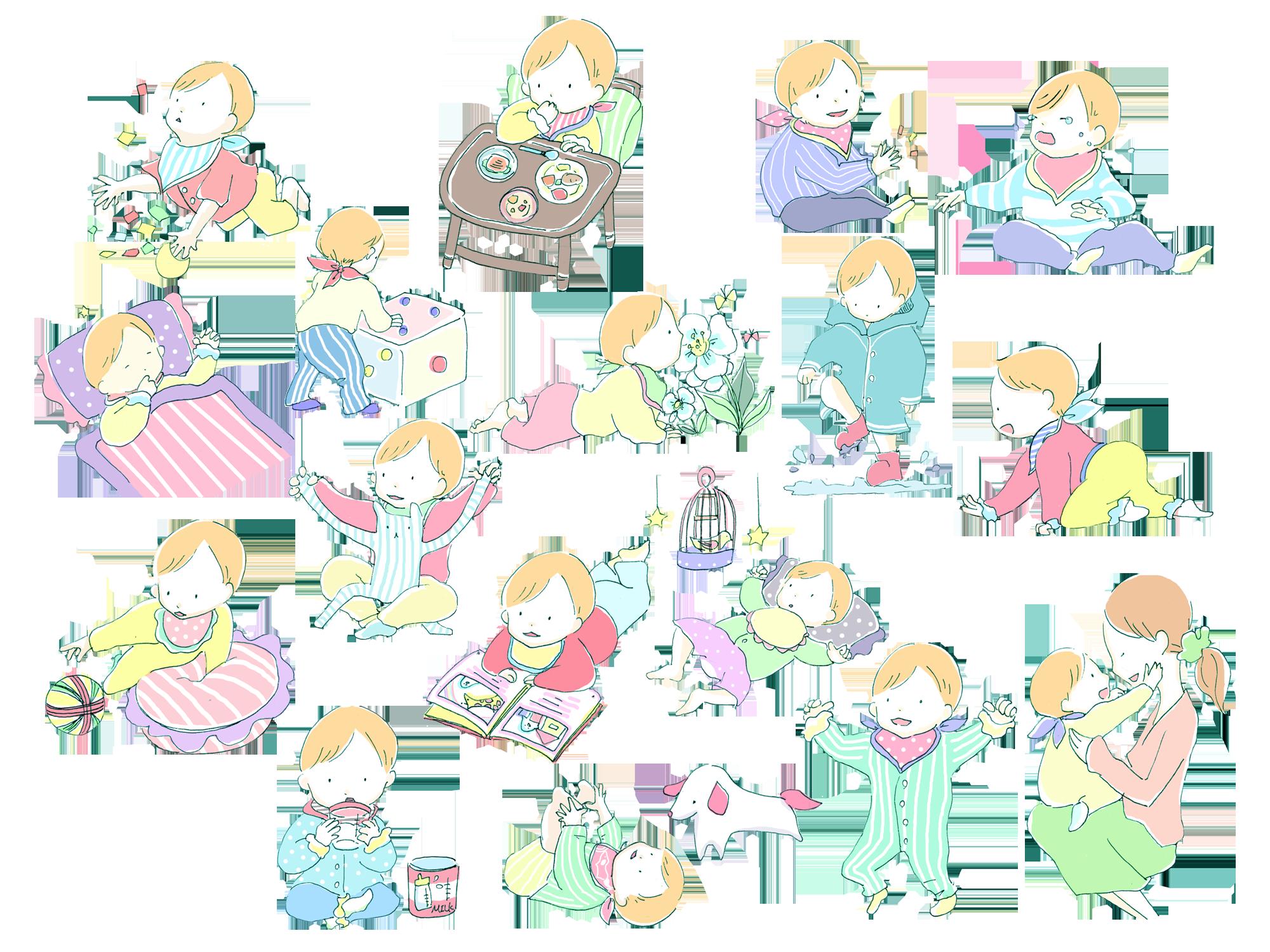 商用可無料の赤ちゃん の イラストテラ合同会社