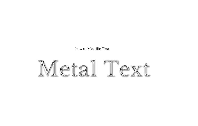 フォトショップでメタリックなロゴを作る方法